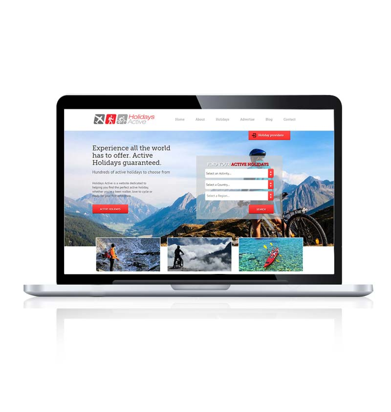 Travel company web design