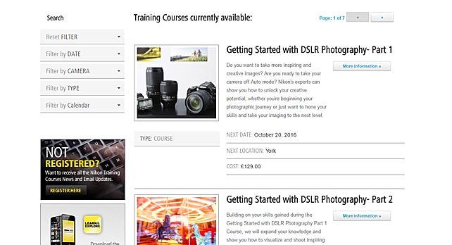 Web Design for Nikon