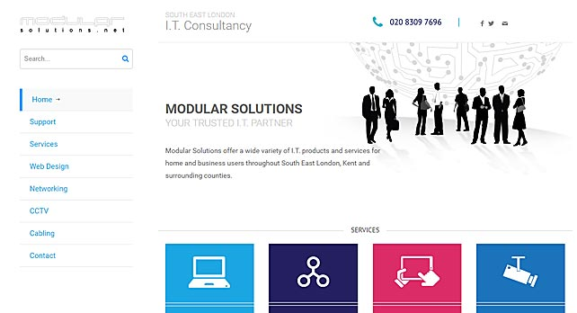Web Design for I.T Company