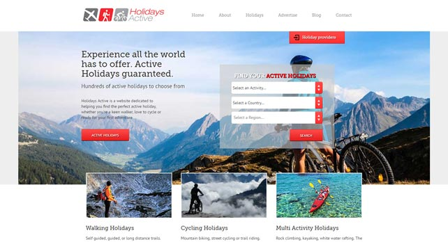 Web Design for Holiday Company