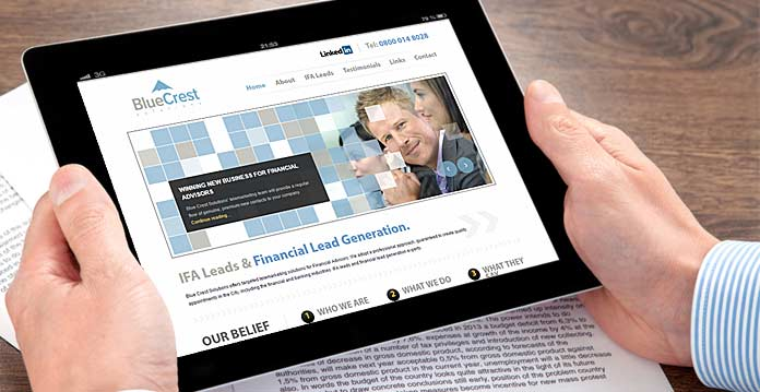 Financial company web designs