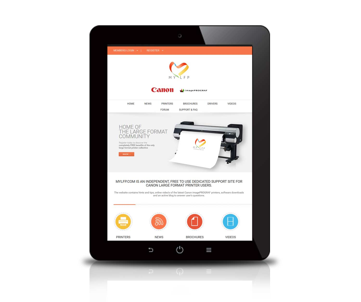 Web design for printing company